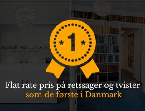 Retssager og tvister i Danmark - flat rate - fast pris fra advokat Jackie Phillips som første i DK