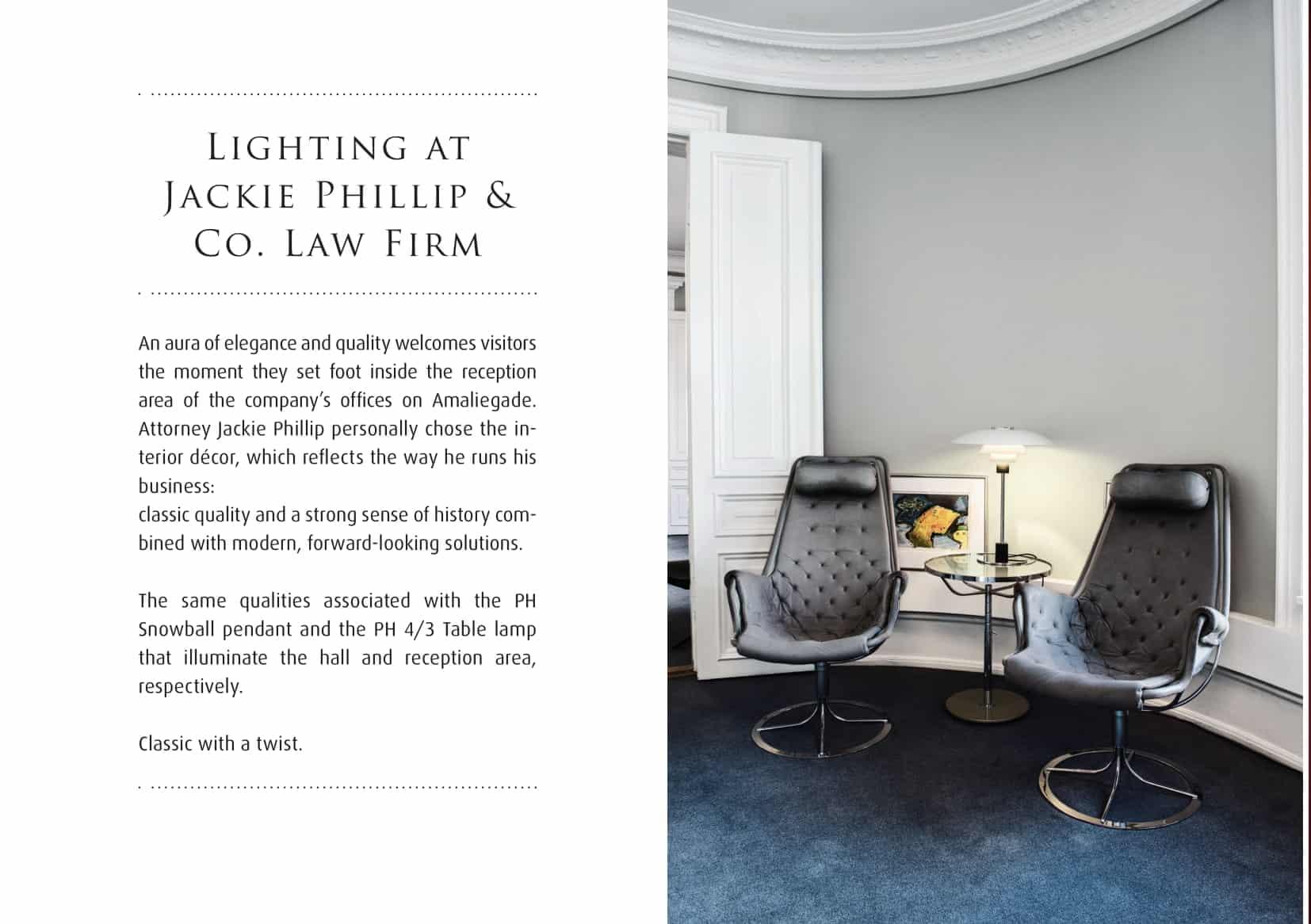Louis Poulsen - Advokatkontor hos Jackie Phillip i Amaliegade København