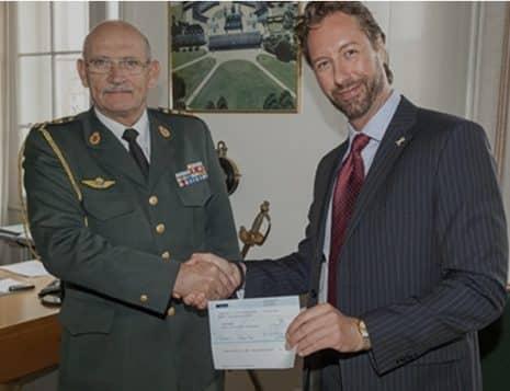 Donation fra HM Dronning Margrethe - af Jackie Phillip