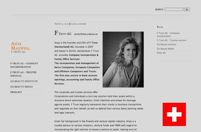 Anyamaxwell.com - Advokat i Schweiz