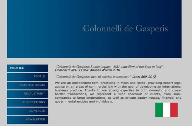 Colonnellilaw.com - Advokat firma i Iitalien