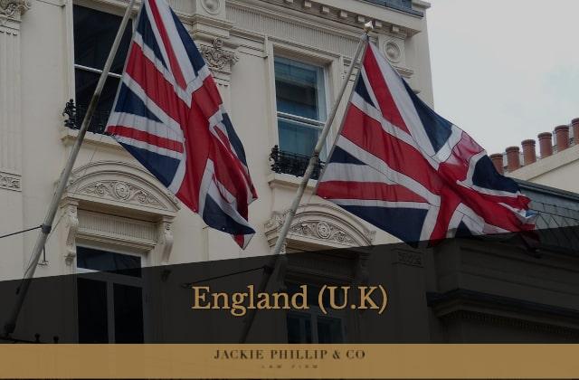 Engelsk advokat med kontor i London (U.K)