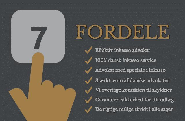 Dine 7 fordele med danske inkasso advokater - Jackie Phillip & Co. Advokatfirma