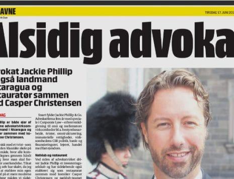 B.T -advokat Jackie Phillip fylder 40 år