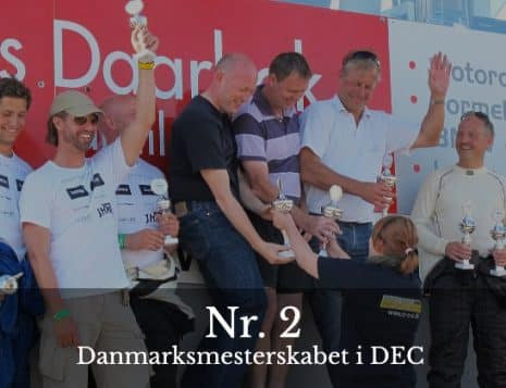 Nr 2 ved danmarksmesterskabet i DEC - Jackie Phillip Law Firm Racing