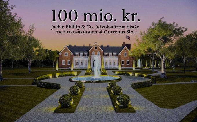 Gurrehus slot til salg for 100 millioner kr. Jackie Phillip bistår med transaktionen