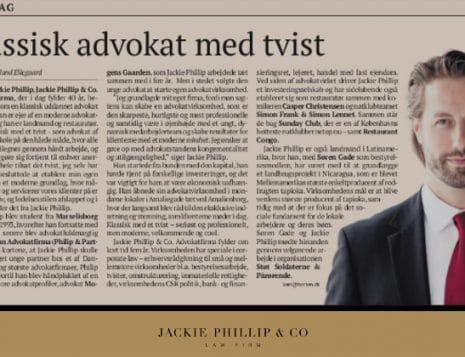 BØRSEN - Klassisk advokat med et tvist - Jackie Phillip