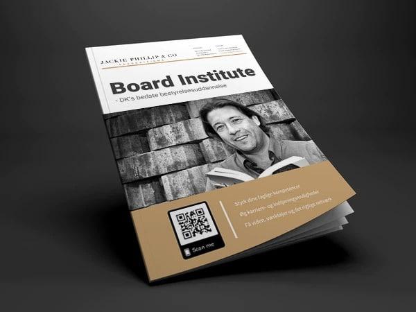 Gratis brochure om den populære bestyrelsesuddannelse hos Board Institute