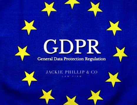 GDPR regler og loven om EU data fra advokat Jackie Phillip & Co. Advokatfirma